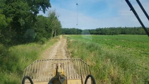 BEFORE - ripping and grading of farm tracks